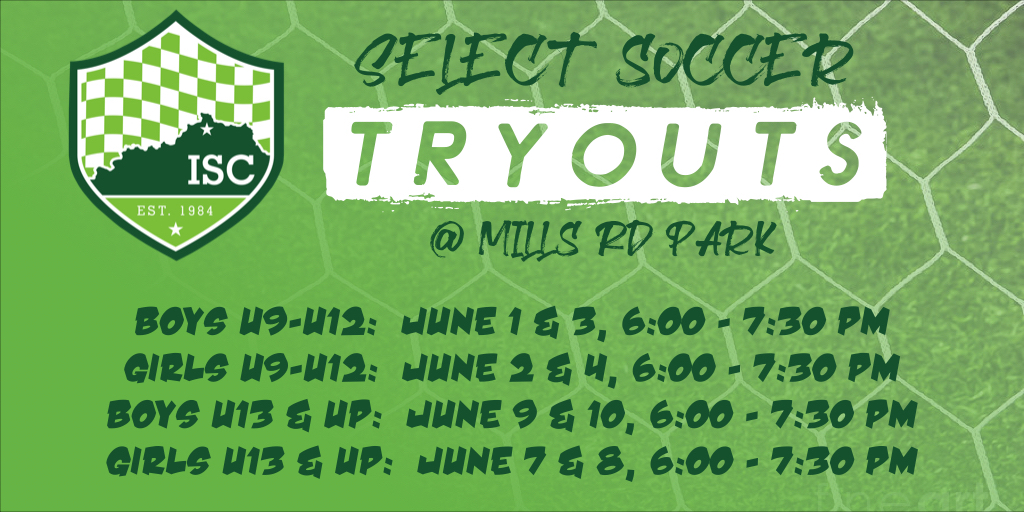 ISC Select Tryouts Now Open!  Register Today!!